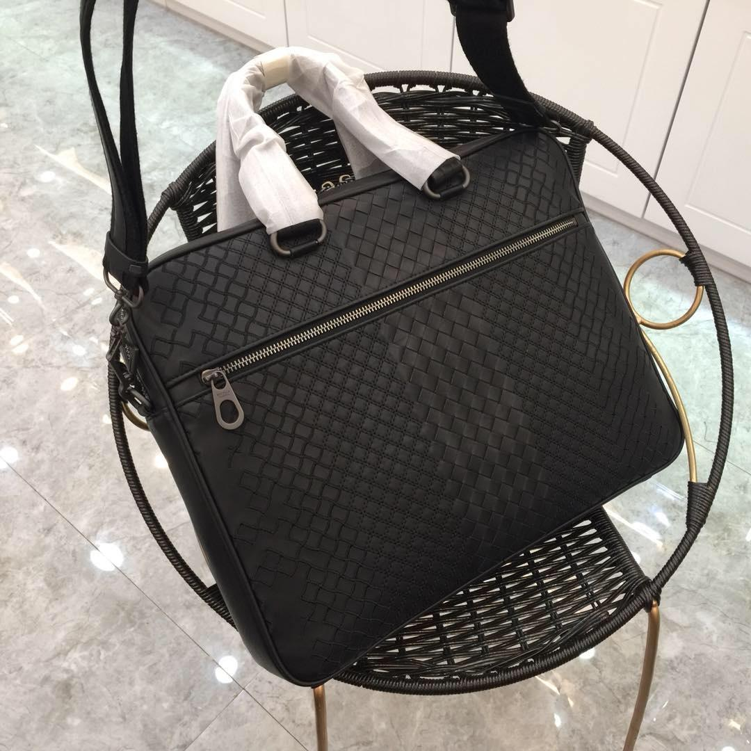 Replica Bottega Veneta Men Ardoise Intrecciato Aurelio Calf Briefcase