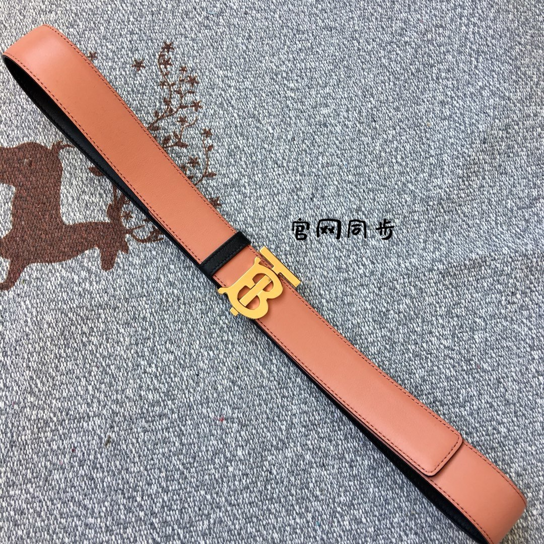 Replica Burberry Women Monogram Motif Leather Belt Width 3.5cm 019