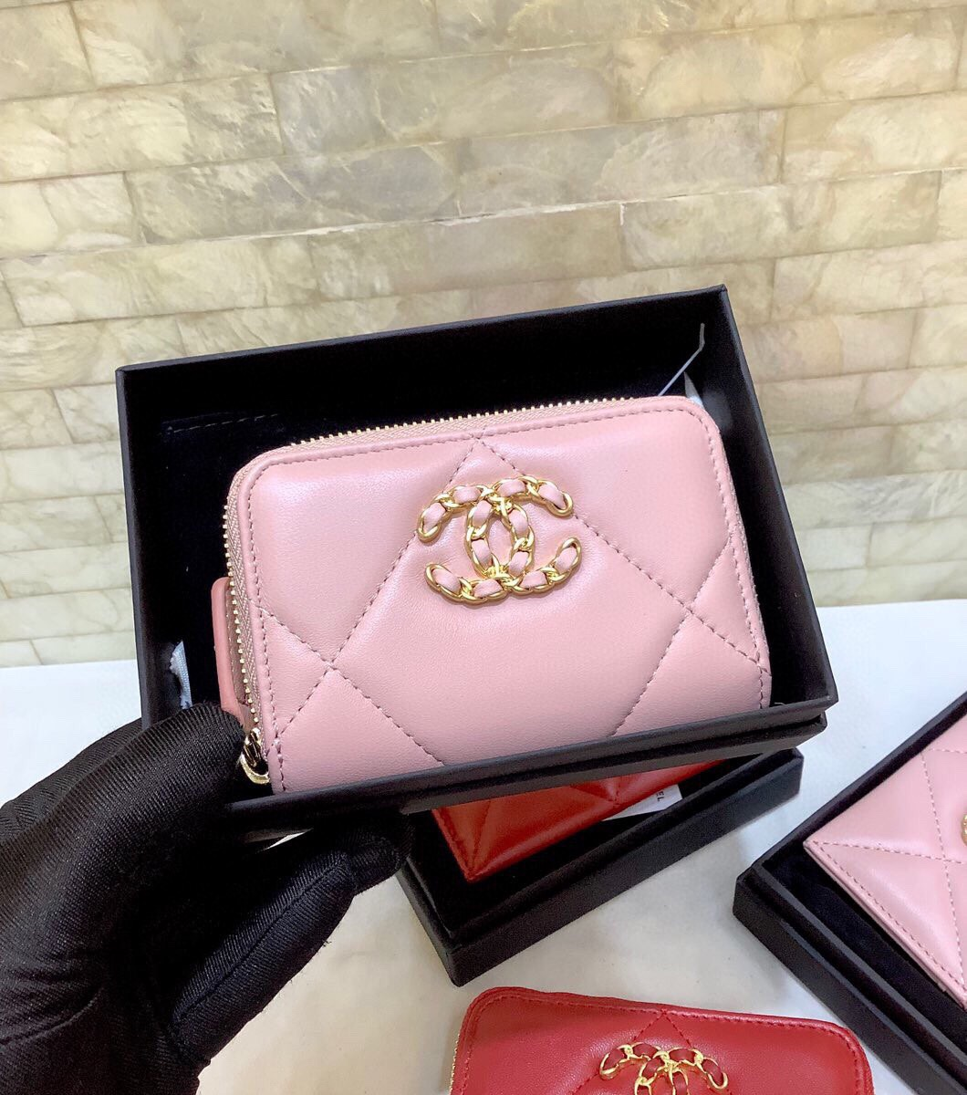Replica Chanel 19 Chanel Short Wallet Pink