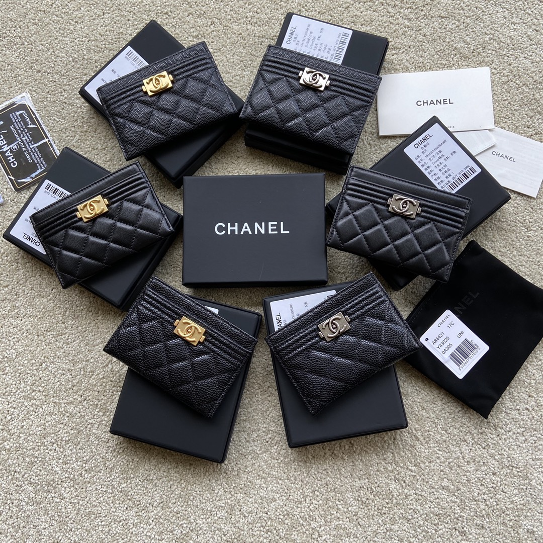 Replica Chanel A84431 Small Card Holder Wallet Black