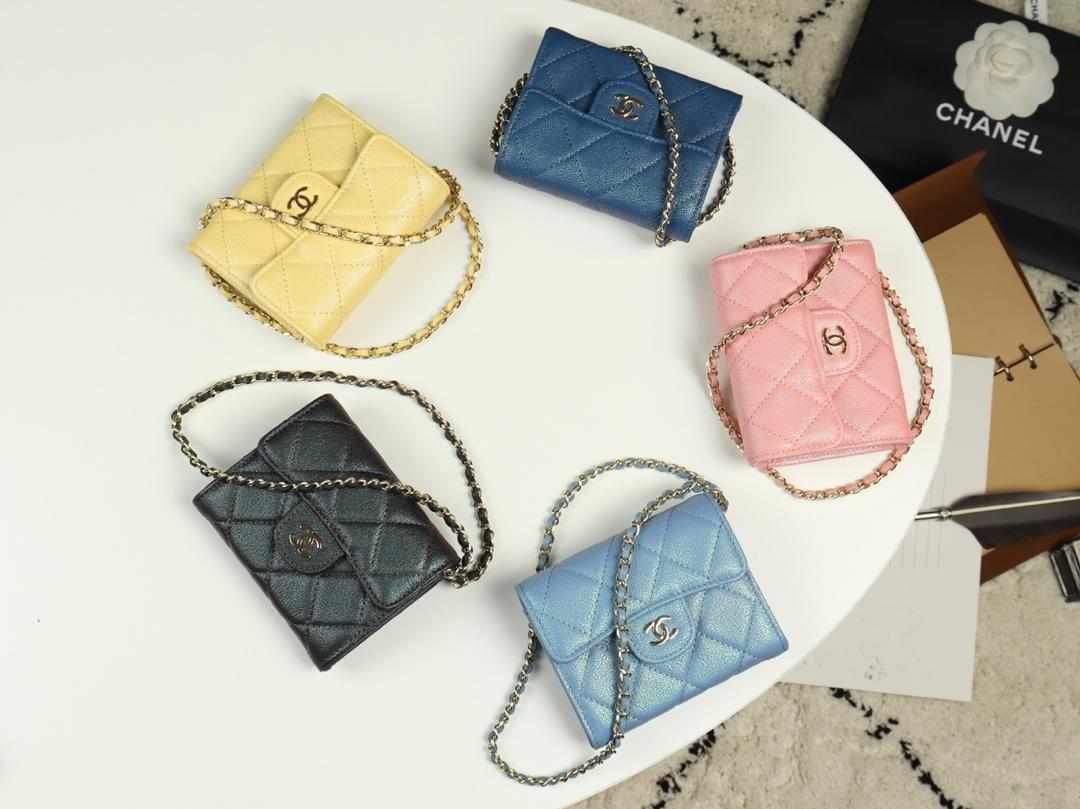 Replica Chanel A84512 Women Classic Clutch With Chain Grained Calfskin Gold Tone Metal 5 Colors