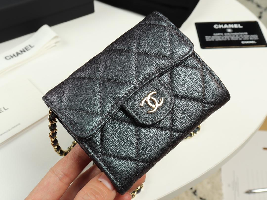 Replica Chanel A84512 Women Classic Clutch With Chain Grained Calfskin Gold Tone Metal Black
