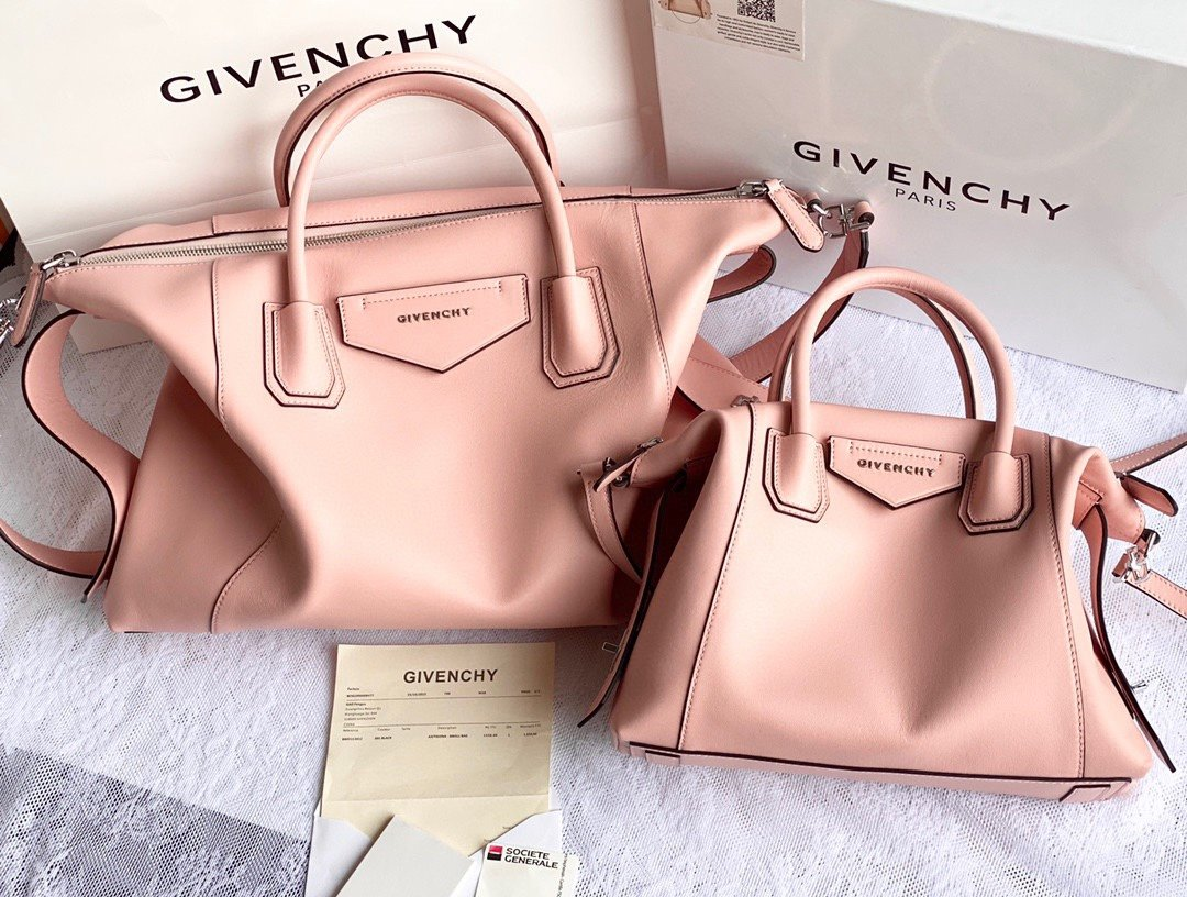 Replica Givenchy Antigona Soft Bag in Smooth Leather Pink