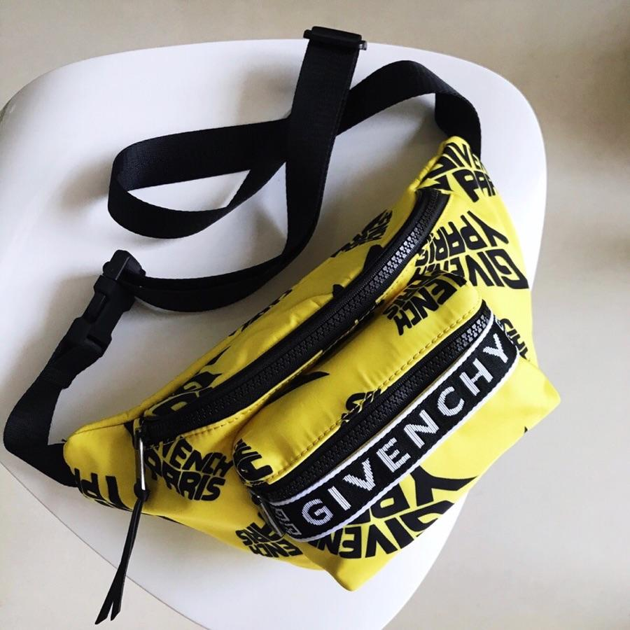 Replica Givenchy Paris Printed Bum Bag Yellow