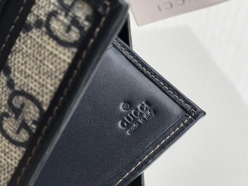 Replica Gucci 138042 Men GG Supreme Wallet With Blue Leather