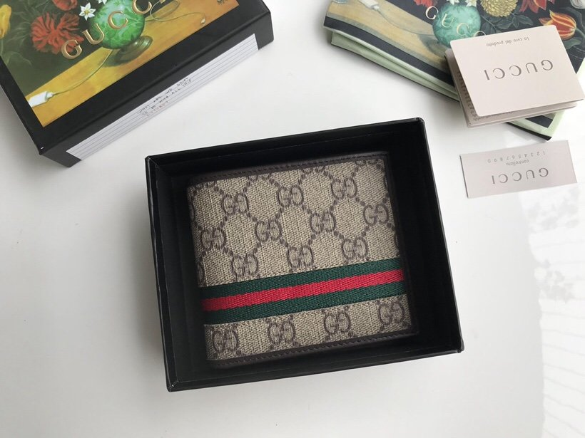 Replica Gucci 138042 Men GG Supreme Wallet