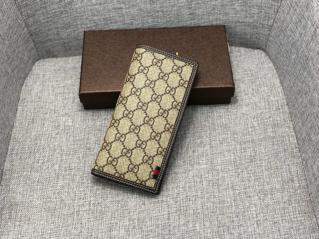 Replica Gucci 225826 Men Long Wallet Coffee