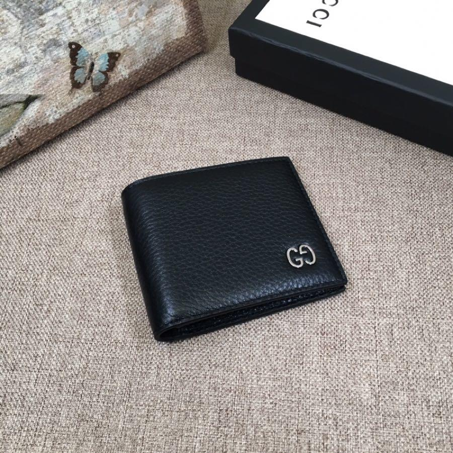 Replica Gucci 473916 Men Leather Wallet Black Leather