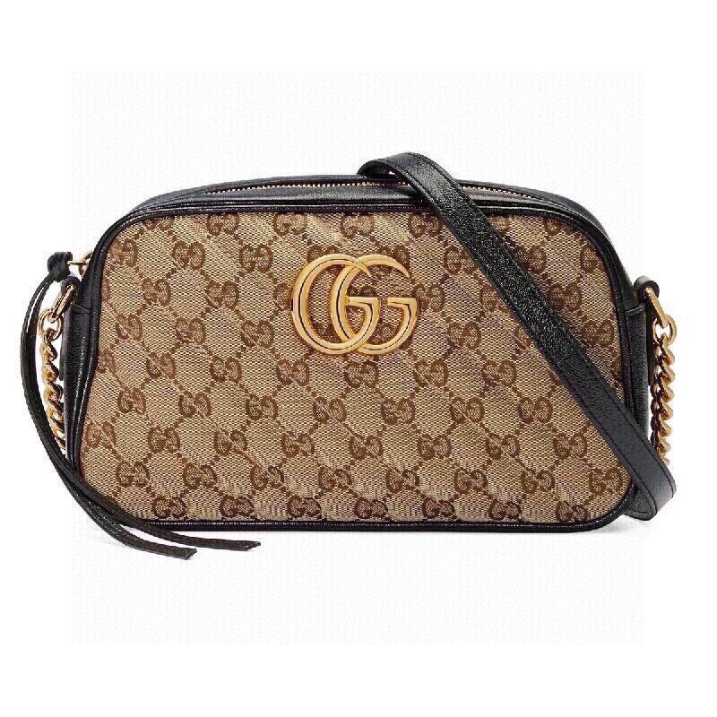 Replica Gucci 498110 GG Marmont Matelasse Mini Bag Black Leather Trim