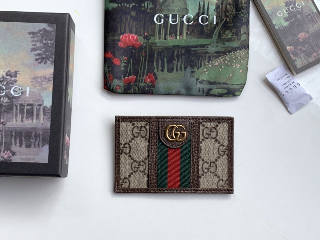 Replica Gucci 597617 Men Ophidia GG Card Case