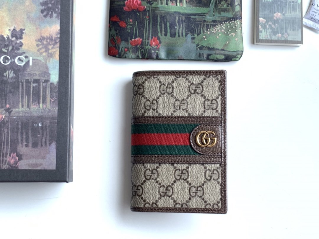 Replica Gucci 597620 Men Ophidia GG Passport Case