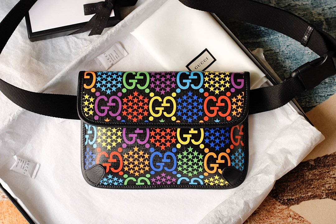 Replica Gucci GG 598113 Psychedelic Belt Bag
