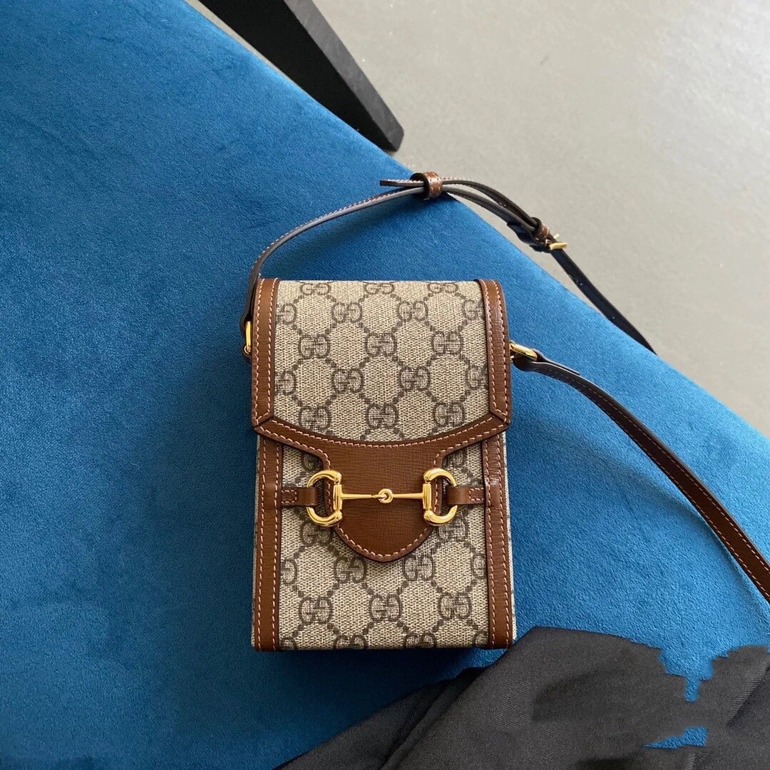 Replica Gucci Horsebit 1955 Mini Phone Bag GG Supreme