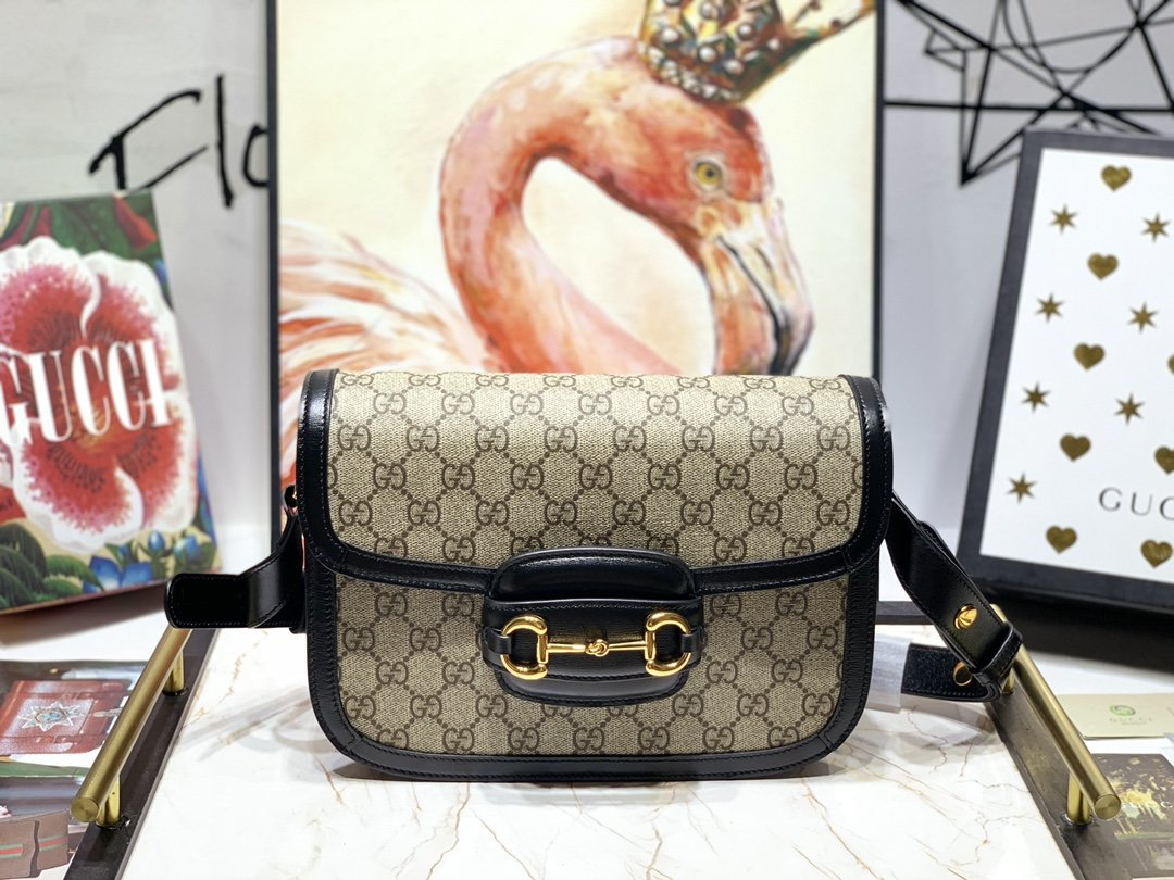 Replica Gucci Women 1955 Horsebit Bag Black 602204