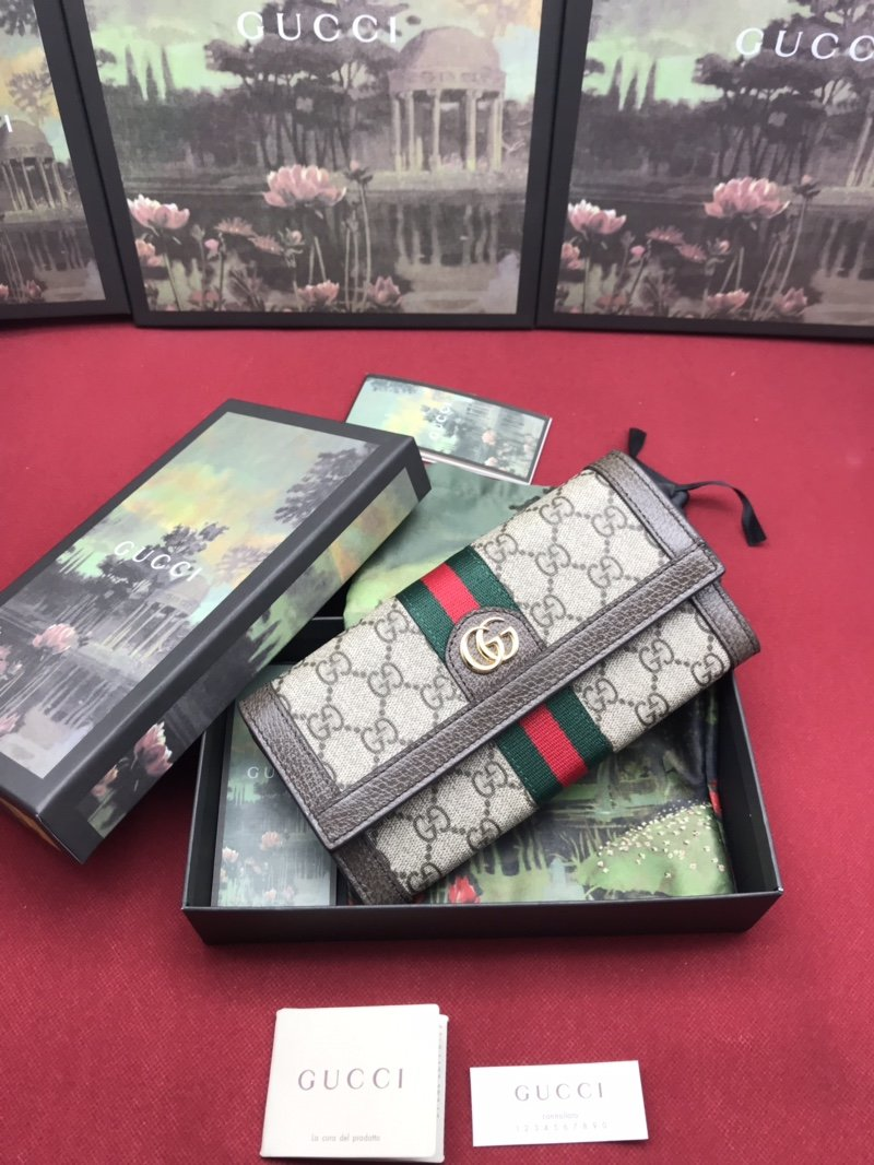 Replica Gucci Women Wallet Ophidia GG Continental Wallet 523153