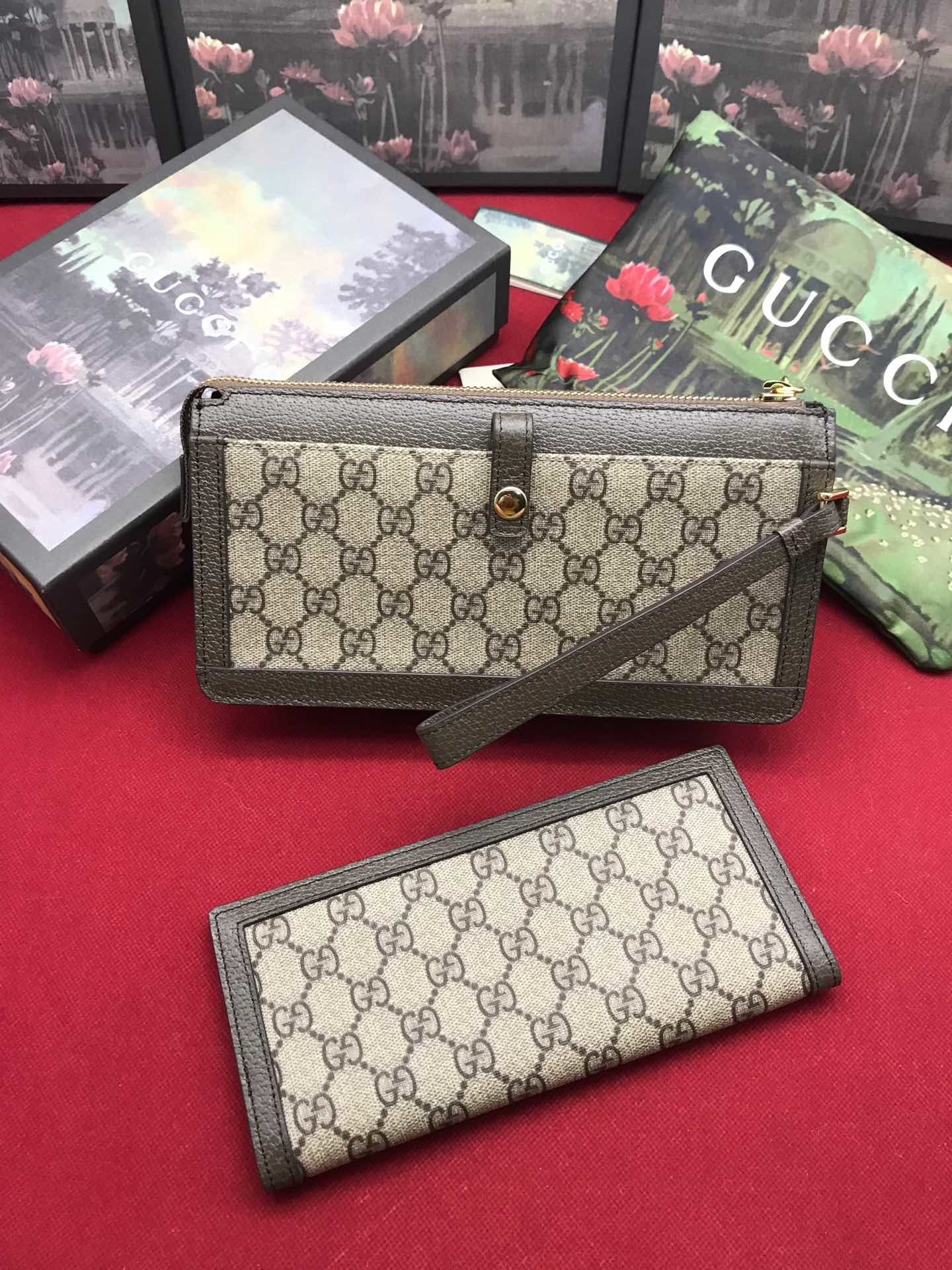 Replica Gucci Women Wallet Ophidia GG Supreme 523166