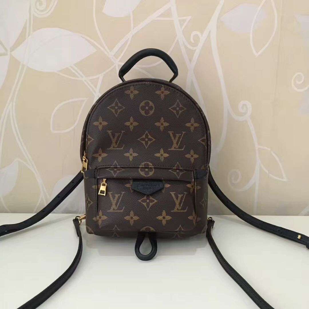Replica Louis Vuitton M41562 Palm Springs Women Mini Backpack Monogram Coated Canvas