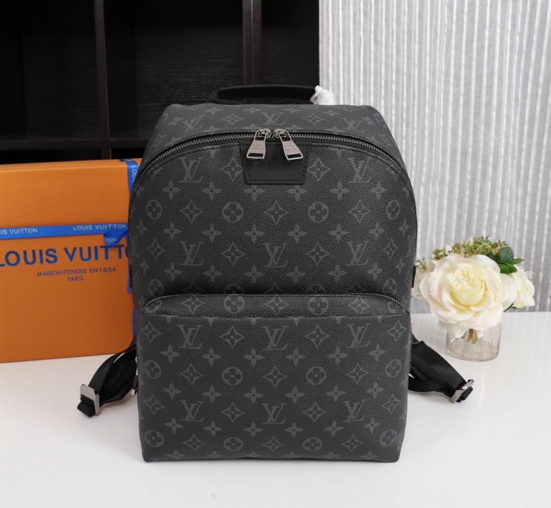 Replica Louis Vuitton M43186 Men Monogram Eclipse Apollo Backpack