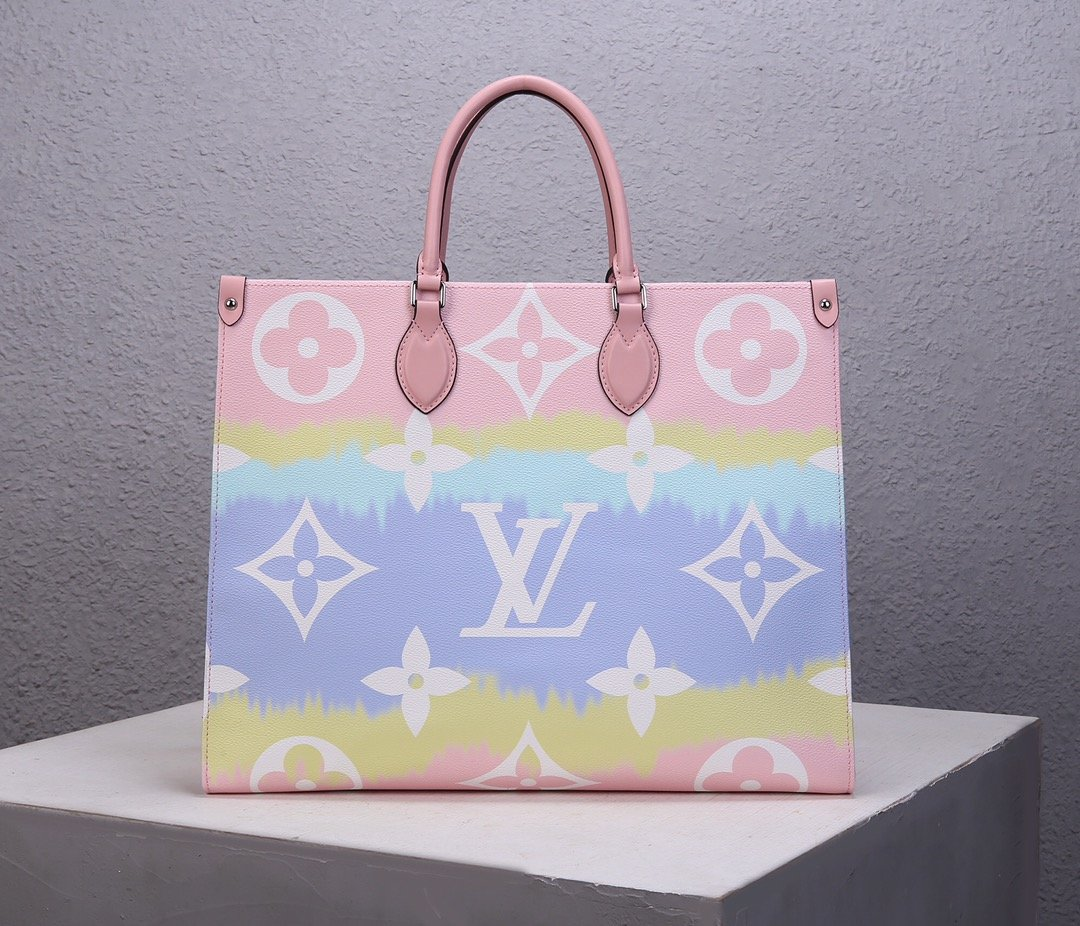 Replica Louis Vuitton M45119 LV Escale Onthego GM Pink Monogram Coated Canvas