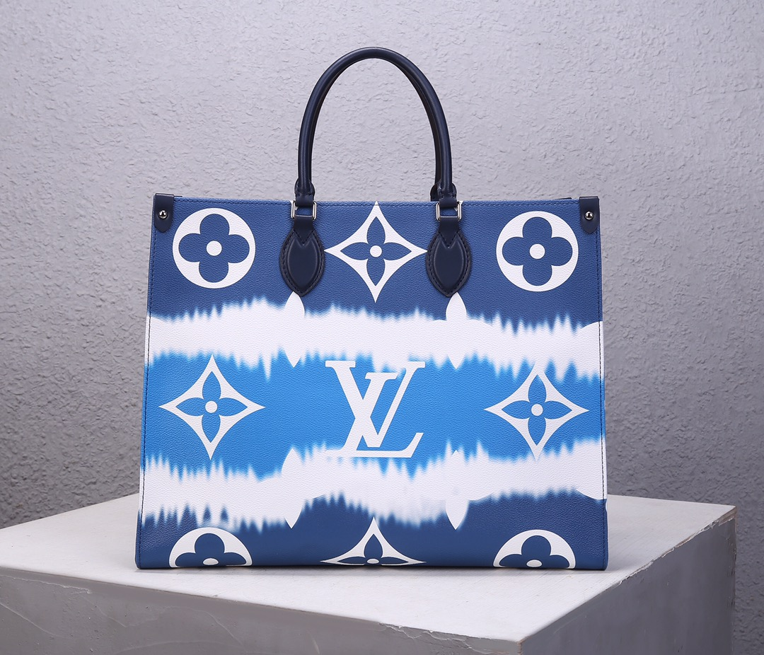 Replica Louis Vuitton M45120 LV Escale Onthego GM Pink Monogram Coated Canvas