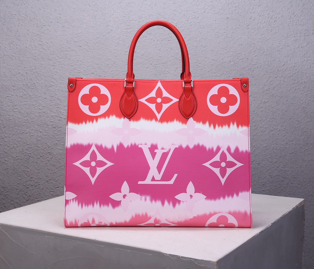 Replica Louis Vuitton M45121 LV Escale Onthego GM Pink Monogram Coated Canvas