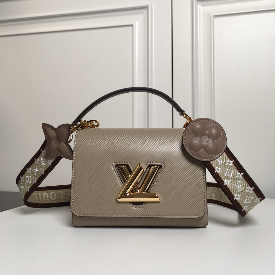 Replica Louis Vuitton M57049 Twist PM Epi Leather With Wide Embroidered Strap Galet