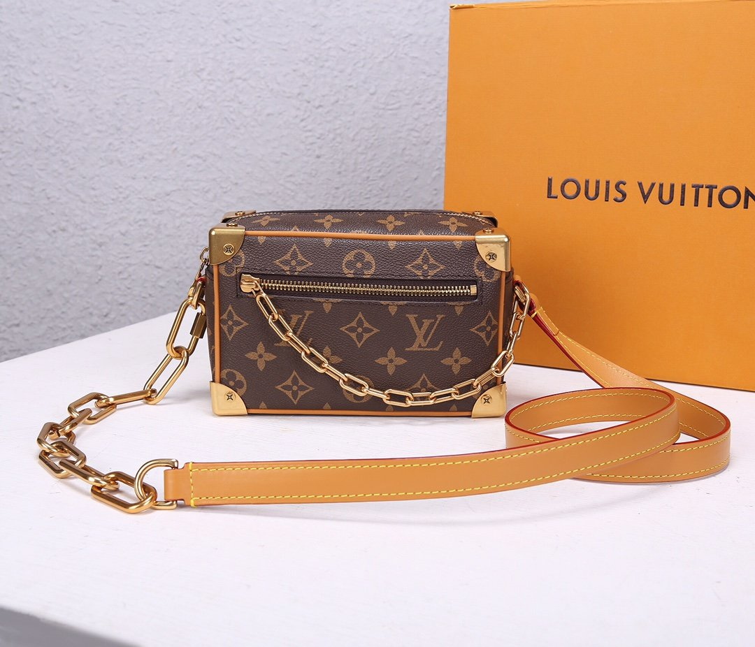 Replica Louis Vuitton M68906 Mini Soft Trunk Monogram Canvas with Smooth Leather