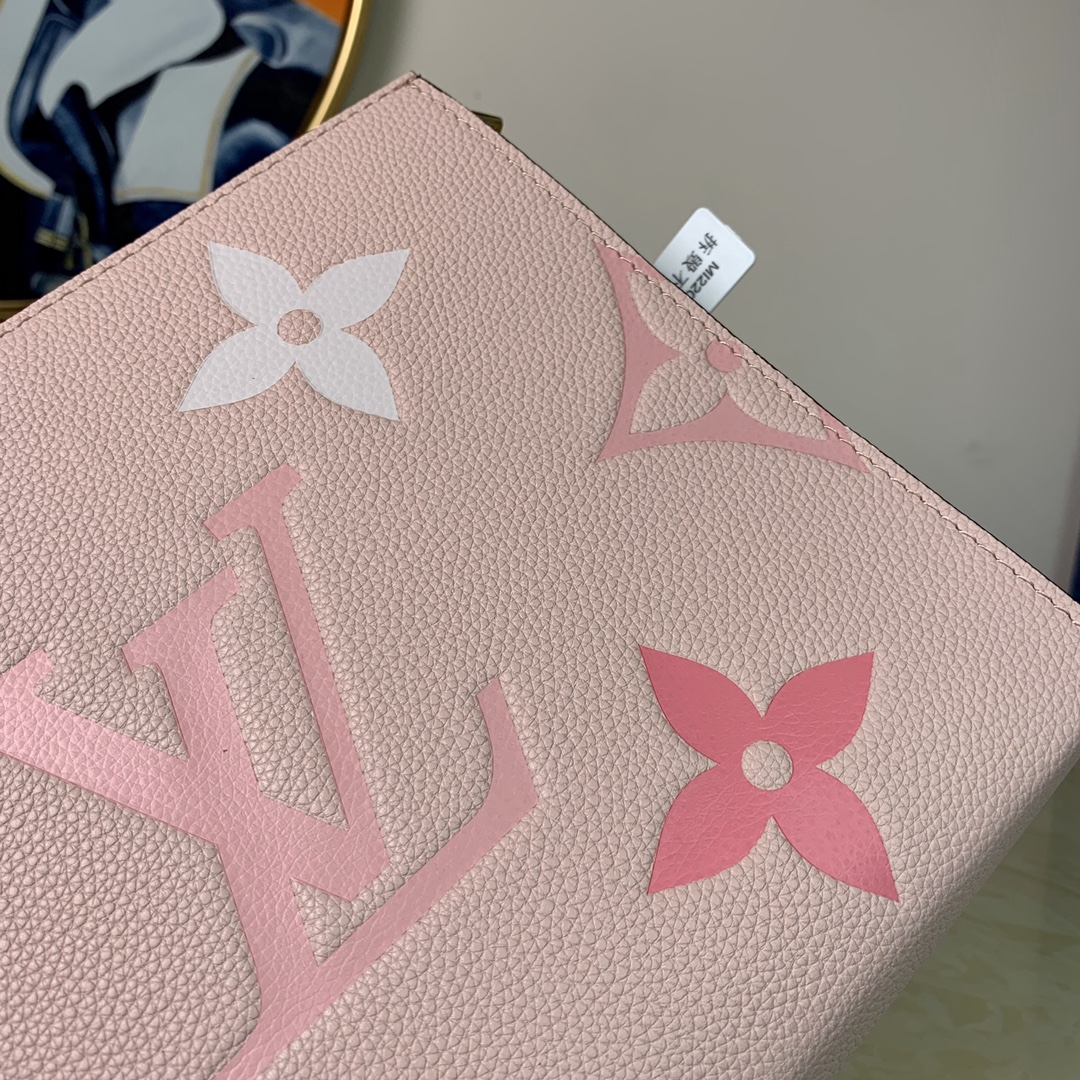 Replica Louis Vuitton M80504 Toiletry Pouch 26 Embossed Cowhide Leather Pink