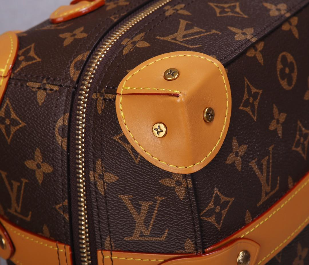 Replica Louis Vuitton Men Soft Trunk Backpack PM Monogram Canvas and Trimmed with Cowhide Leather M44752