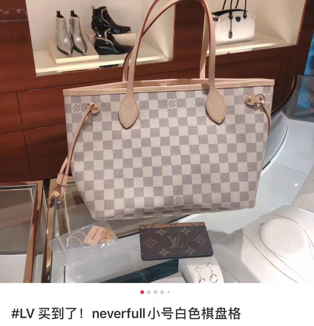 Replica Louis Vuitton N41362 Neverfull PM Tote Damier Azur Coated Canvas