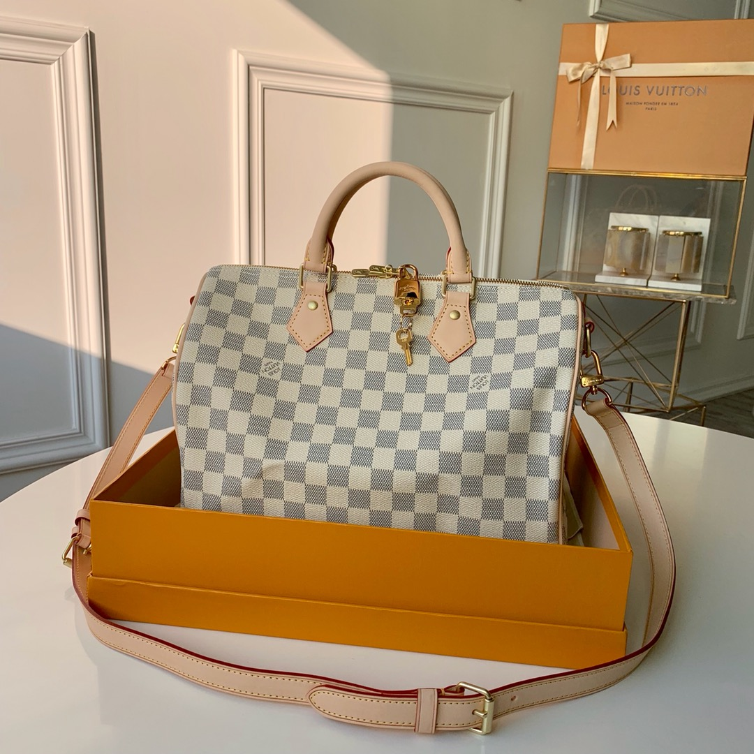 Replica Louis Vuitton N41370 Speedy 30 Damier Azur Coated Canvas