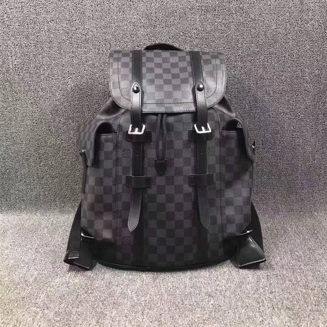 Replica Louis Vuitton N41379 Christopher PM Men Backpack Monogram Eclipse