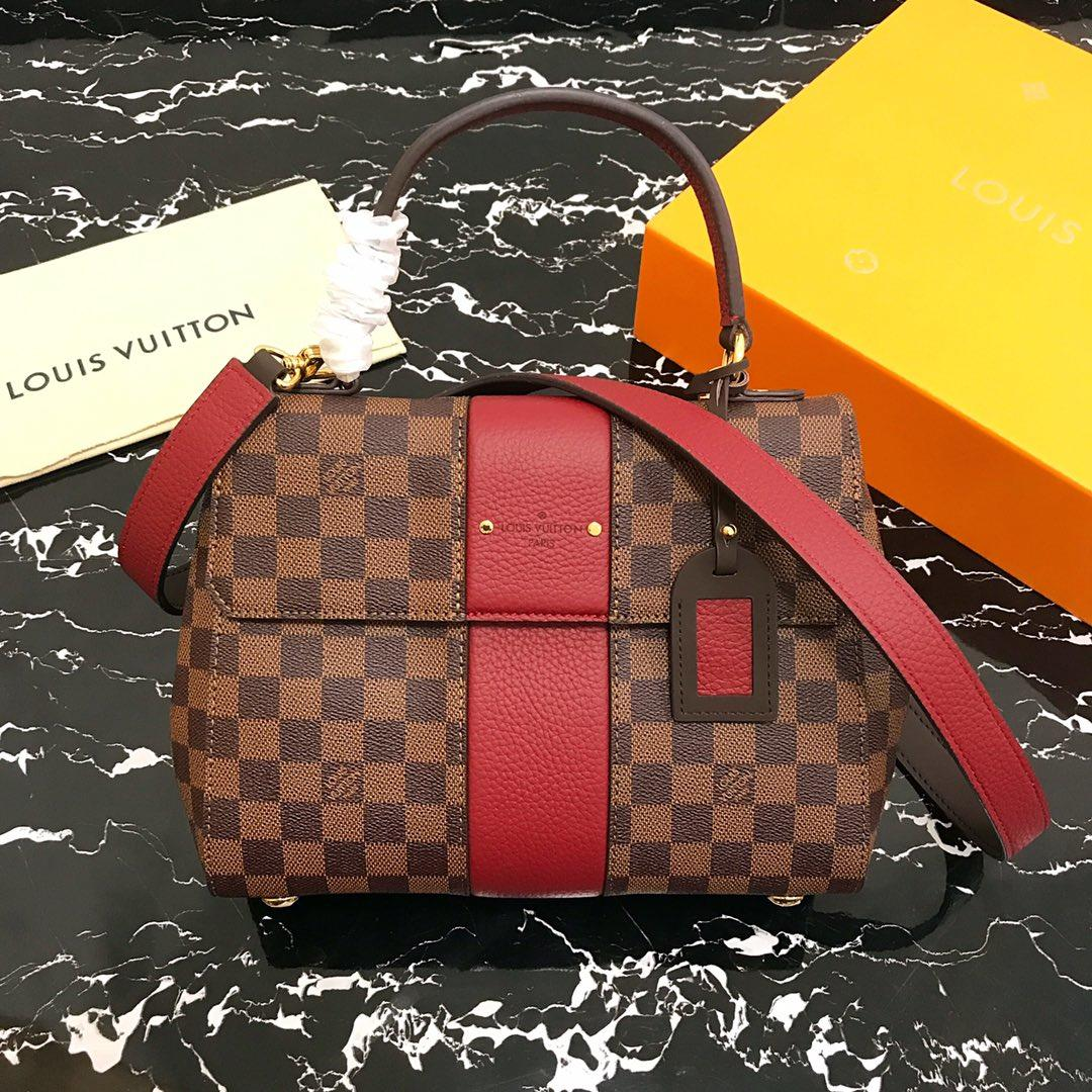 Replica Louis Vuitton N44053 Bond Street Damier Ebène and Taurillon Leather