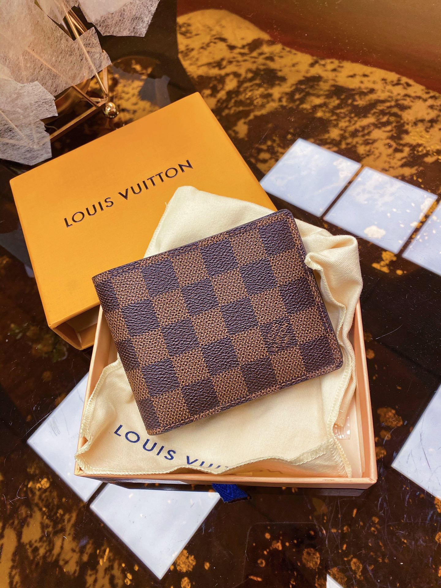 Replica Louis Vuitton N60895 Multiple Wallet Coated Canvas