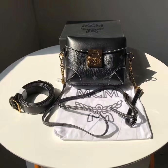 Replica MCM Soft Berlin Belt Bag in Black