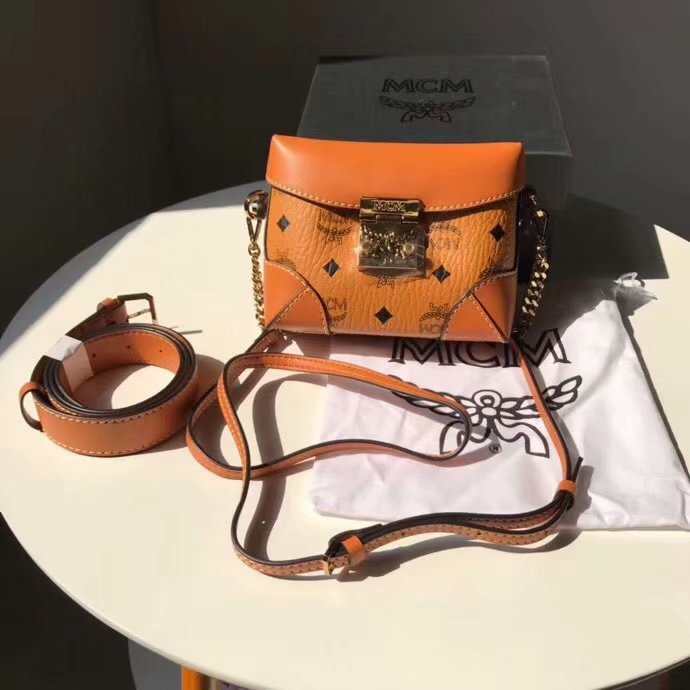 Replica MCM Soft Berlin Belt Bag in Visetos