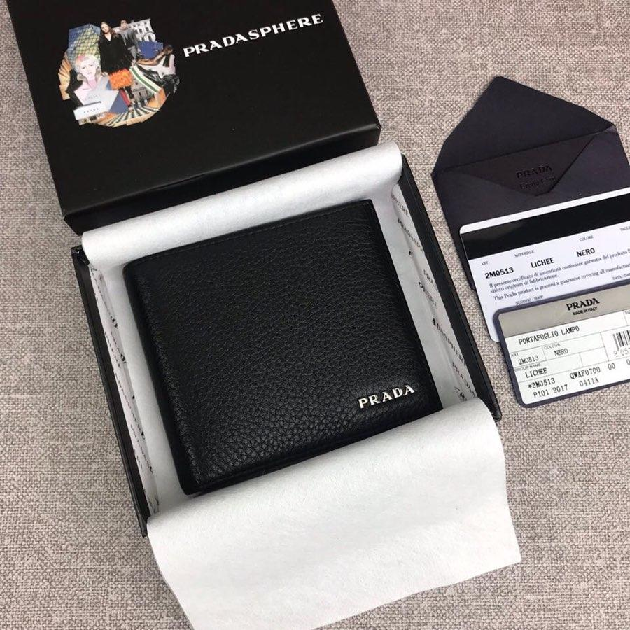 Replica Prada 2M0513-1 Classics Men Short Wallet Black