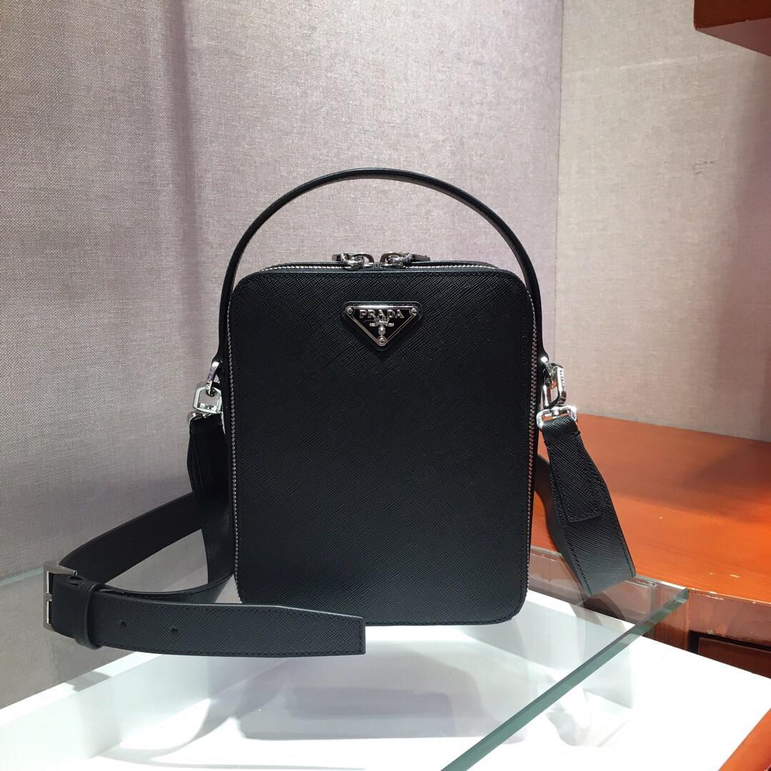 Replica Prada Men Saffiano Leather Backpack 2VZ036