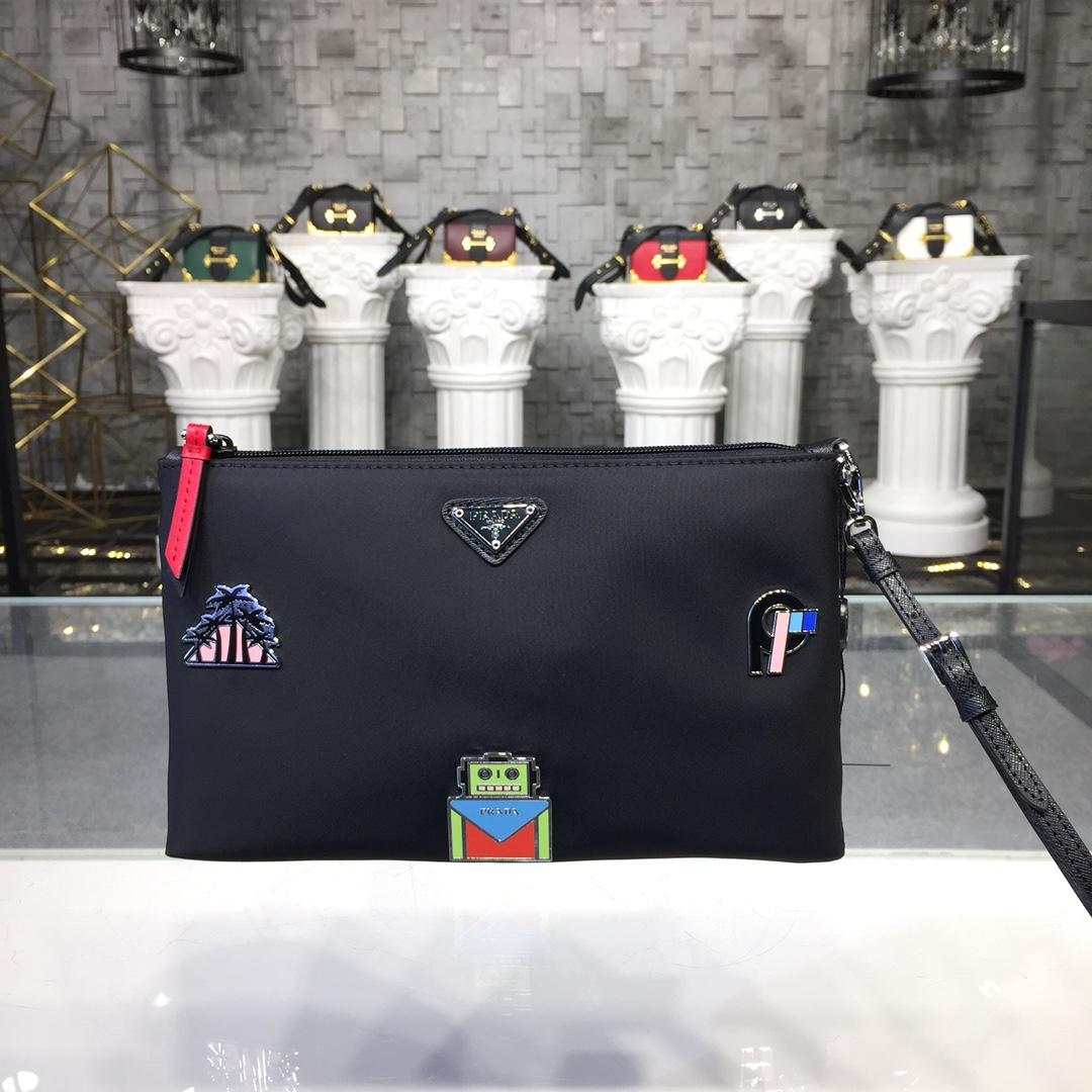 Replica Prada Women Nylon Clutch 1NB400