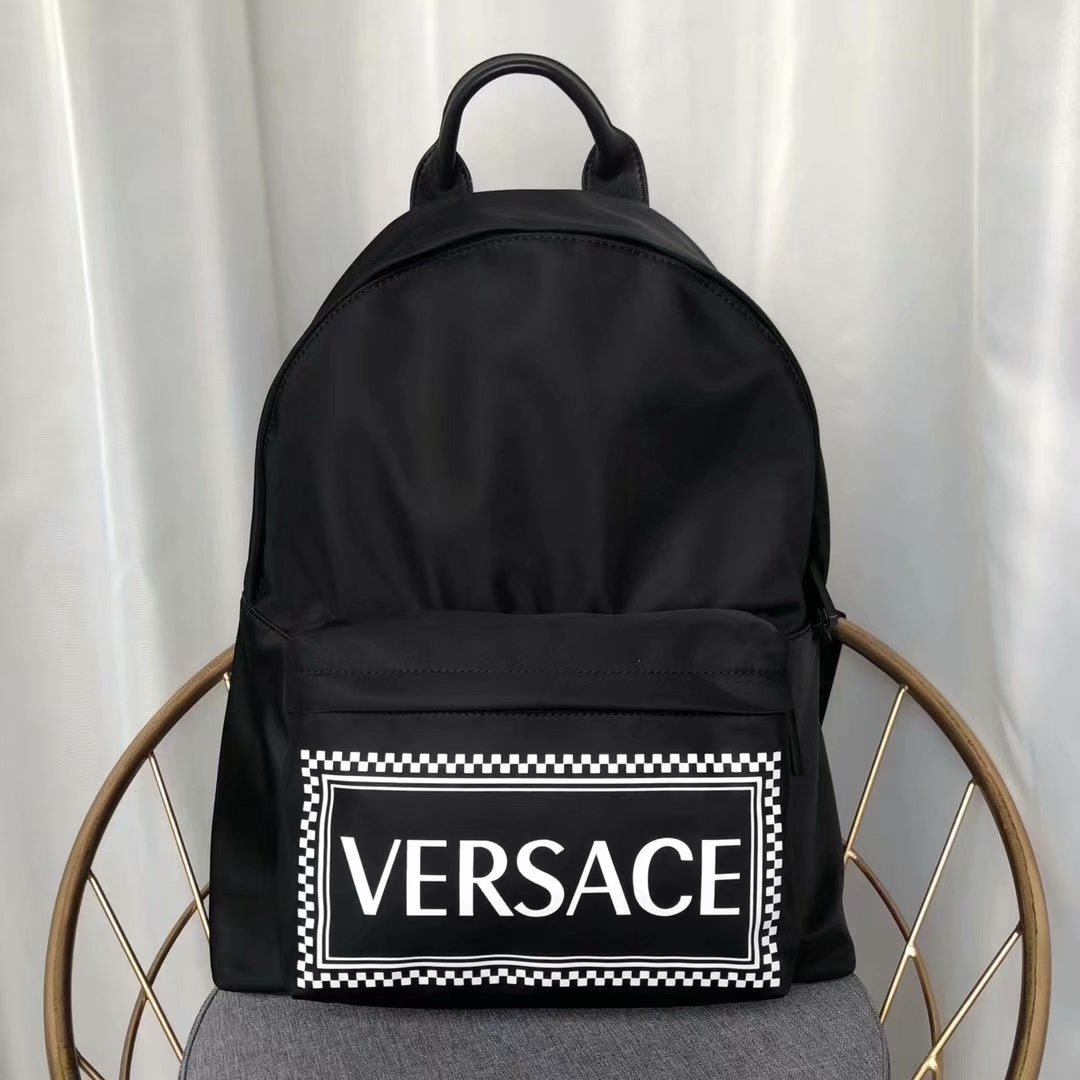 Replica Versace 2018 New Men Leather Backpack Black