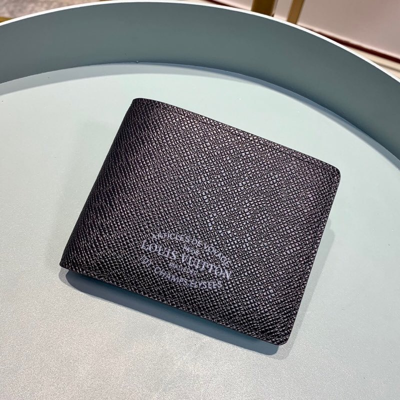 Replica louis Vitton M30385 Men Brazza Wallet Taiga Leather Noir