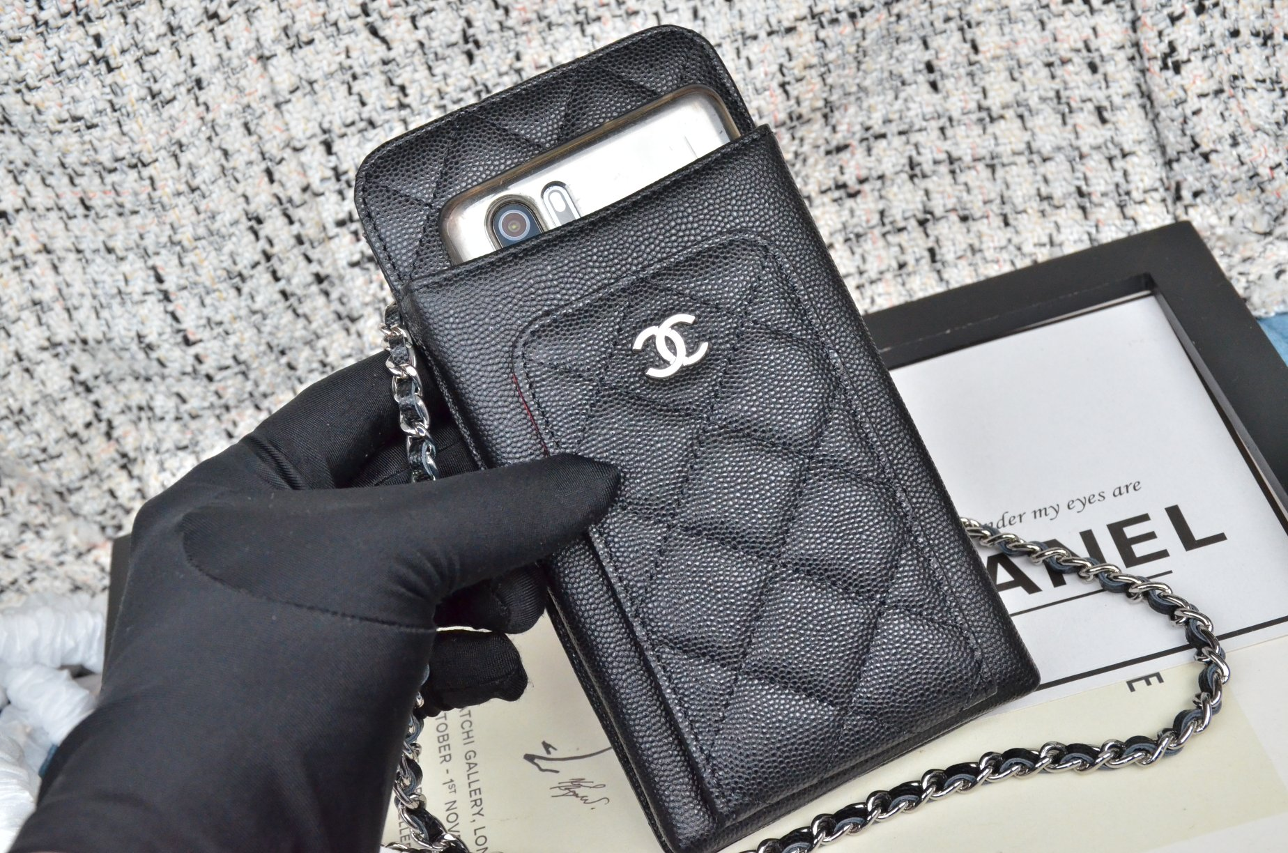 Top Quality Chanel Ohane Phone Shoulder Bag with Silver-Tone Metal 002