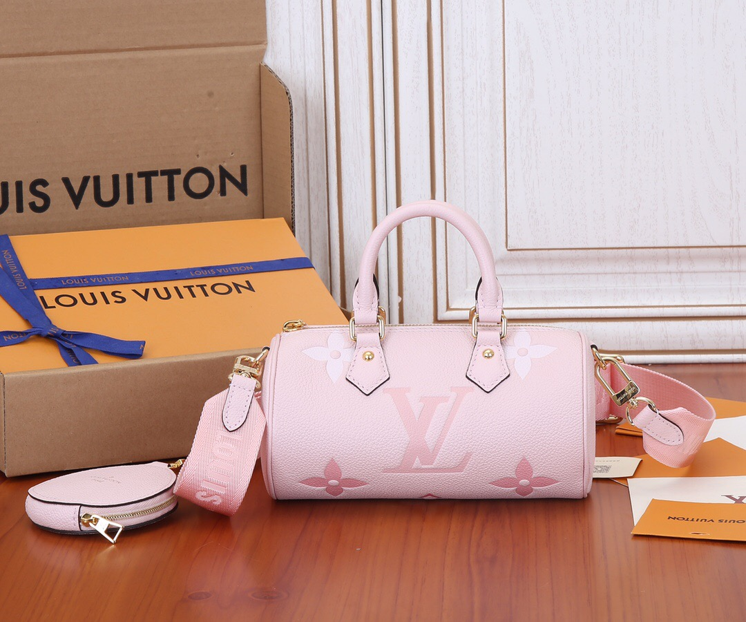 Top Quality Louis Vuitton M45707 Papillon BB Carryall Bag Embossed Grained Cowhide Leather