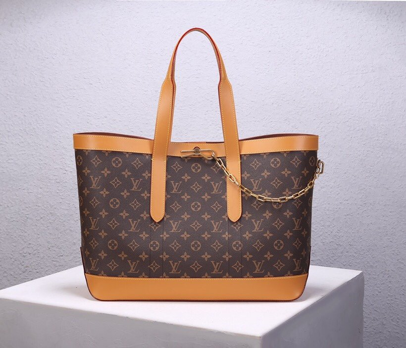 Top Replica Louis Vuitton M44878 Cabas Voyage Monogram Coated Canvas