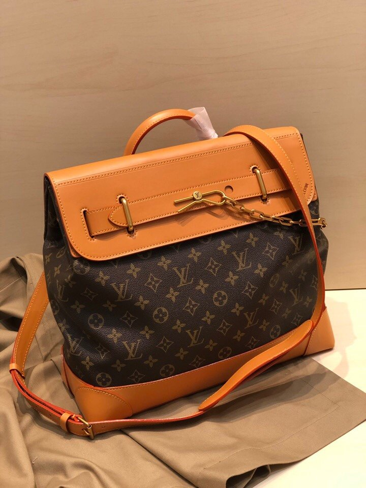 Top Replica Louis Vuitton M44997 Men Steamer PM Monogram coated canvas